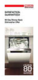 Miele - 90-Day Money Back Dishwasher Offer