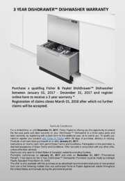 Fisher Paykel - 3 Year Dishdrawer Dishwasher Warranty