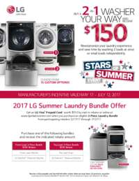 LG - 2 in 1 Washer Your Way and Receive $150 Rebate