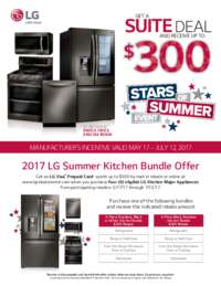 LG - Summer Kitchen Bundle Offer (up to $300 off)