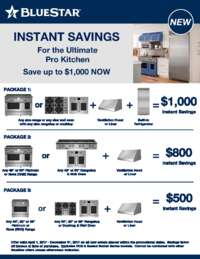 Bluestar - Instant Savings Up To $1000 for the Ultimate Pro Kitchen