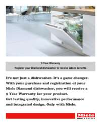 Miele - 5 Year Warranty Diamond Dishwasher