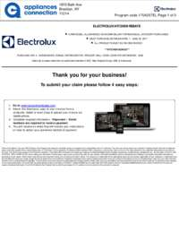 Electrolux - Kitchen Appliance Rebate (Up To $775 value)