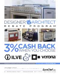ILVE and Verona - Designer and Architect Rebate Program