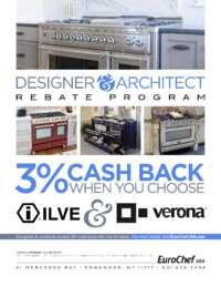 ILVE and Verona - Designer and Architect Rebate Program