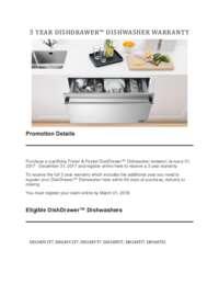 DCS - 3 Year Dishdrawer Dishwasher Warranty