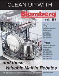 Blomberg - Up To $100 mail-in rebate for eligible dishwashers