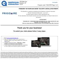 Frigidaire - Up To $150 Rebate for Individual Category Purchases