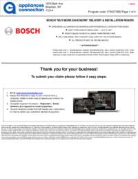Bosch - June and July Rebate with Kitchen Bonus Up To $250