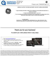 GE - Up To $375 Rebate for Individual Category Purchases