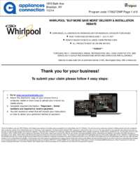 Whirlpool - June and July Rebate with Bonus Up To $300