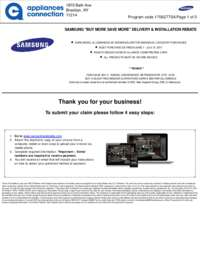 Samsung - Up To $400 Rebate On Select Appliance Packages