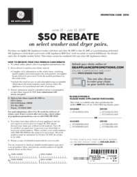 GE - Laundry Pairs Rebate ($50 value)