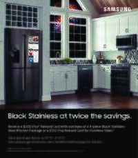 Samsung - Black Stainless At Twice The Savings ($300 value)