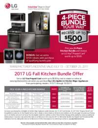 LG - Fall Kitchen Bundle Offer (up to $600 value)