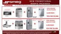 SMEG - 30, 36 inch Freestanding Rebate Packages ($1000 value)