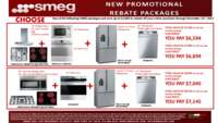SMEG - 24, 30 inch Built-in Rebate Packages ($1000 value)