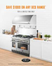 DCS - Save $1000 on Any Range Plus FREE 5 Year Warranty on 4-piece packages
