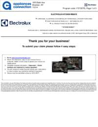 Electrolux - Up To $850 Kitchen Rebate