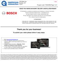 Bosch - August/September Rebate with Kitchen Bonus Up To $250