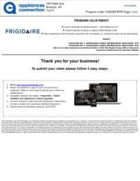Frigidaire - Value Rebate with Bonus Up To $150