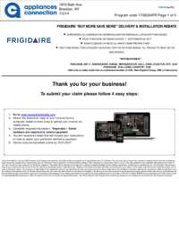 Frigidaire - August/September Rebate with Kitchen Bonus Up To $200
