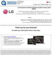 LG - August/September Rebate with Bonus Up To $300