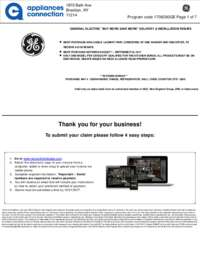 GE - Up To $275 Rebate for Individual Category Purchases