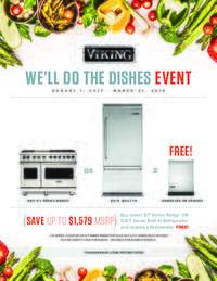 Viking - We'll Do The Dishes Event (Up to $1579 Savings)