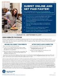 GE - $300 Rebate Package