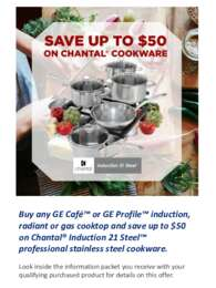 GE - Save Up To $50 on Chantal Cookware
