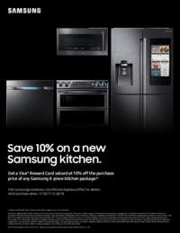 Samsung - 10% on a new 4-piece Kitchen package