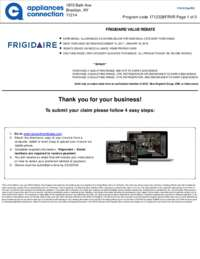 Frigidaire - Value Rebate Up To $200 Off for Individual Category Purchases