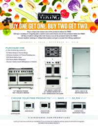 Viking - Buy One Get One Free Appliance