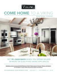 Viking - Save 5% When You Spend $10,000
