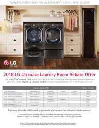 LG - Ultimate Laundry Room Rebate (Up To $500 value)