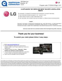 LG - December/January Rebate with Bonus Up To $350 off