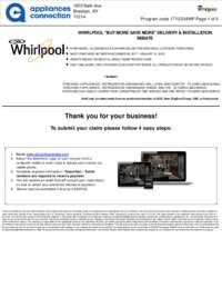 Whirlpool - Up To $150 Rebate for Individual Category Purchases