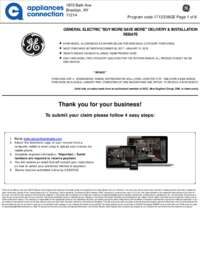 GE - Up To $225 Rebate for Individual Category Purchases