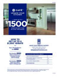 GE Cafe - Upgrade Your Kitchen (up to $1500 value)