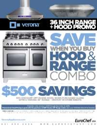 Verona - 36 Inch Range + Hood Promo ($500 value)