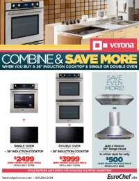 Verona - 36 Inch Cooktop + Wall Oven (up to $2098 value)