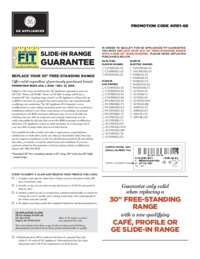 GE - Slide-in Range Fit Guarantee