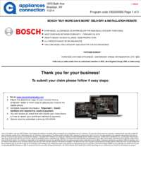 Bosch - February Rebate with Bonus Up To $400