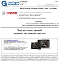 Bosch - February Rebate with Bonus Up To $400