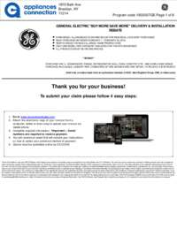 GE Rebate for Individual Category Purchases