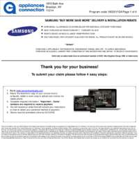 Samsung - Up To $150 Rebate For Individual Category Purchases