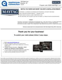 Maytag - Up to $150 Rebate for Individual Category Purchases