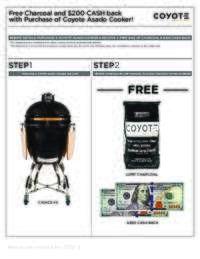Coyote - Free Charcoal and $200 cash back