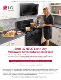 LG - Earth Day Microwave Oven Rebate ($50 value)